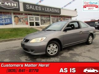 Used 2005 Honda Civic COUPE SE  AS TRADED *UNCERTIFIED* for sale in St Catharines, ON