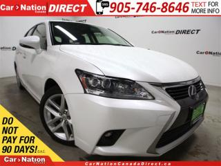 Used 2014 Lexus CT 200h | HYRBID| LEATHER| SUNROOF| LOW KM'S| for sale in Burlington, ON