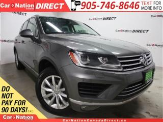 Used 2016 Volkswagen Touareg 3.6L Comfortline| LEATHER| NAVI| PANO ROOF| AWD| for sale in Burlington, ON