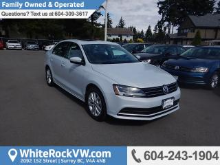 Used 2017 Volkswagen Jetta Wolfsburg Edition WOLFSBURG EDITION, RADIO DATA SYSTEM, RAIN SENSING WIPERS & HEATED FRONT SEATS for sale in Surrey, BC