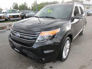 Used 2015 Ford Explorer LOADED LIMITED EDITION 7 PASSENGER 3.5L - V6.. 4WD.. BENCH & 3RD ROW.. LEATHER.. HEATED/AC SEATS.. NAVIGATION.. DUAL SUNROOF.. BACK-UP CAMERA.. for sale in Bradford, ON