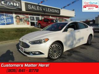 Used 2017 Ford Fusion SE  AWD, NAV, CAMERA, ROOF, HEATED LEATHER SEATS for sale in St Catharines, ON