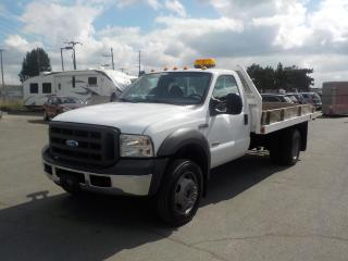 Used 2005 Ford F-450 SD Regular Cab 12 Foot Flat Deck Dually Diesel 2WD for sale in Burnaby, BC