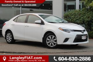 Used 2015 Toyota Corolla LE B.C OWNED! for sale in Surrey, BC