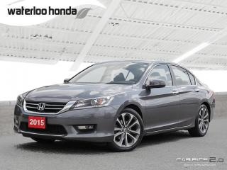 Used 2015 Honda Accord Sport Sold Pending Customer Pick Up...Back Up Camera, Heated Seats and more! for sale in Waterloo, ON