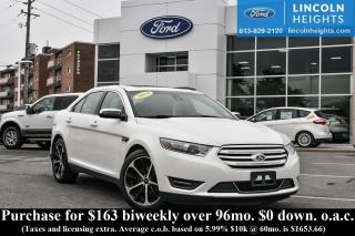 Used 2014 Ford Taurus LIMITED AWD - LEATHER - BLUETOOTH - PWR MOONROOF - HEATED SEATS - NAV for sale in Ottawa, ON