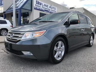 Used 2011 Honda Odyssey ENTERTAINMENT SYSTEM|POWER SLIDING DOORS|SUNROOF|BLUETOOTH|LEATHER|ALLOY WHEELS for sale in Concord, ON