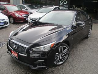 Used 2014 Infiniti Q50 SPORT-NAVIGATION-CAMERA-TECH-PKG-LOADED for sale in Scarborough, ON