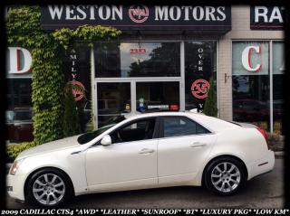 Used 2009 Cadillac CTS 4 *AWD *LEATHER *SUNROOF *BT *LOW KM *LUXURY PKG for sale in York, ON