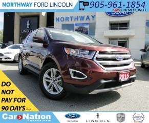Used 2015 Ford Edge SEL | NAV | PANO ROOF | LEATHER | REAR CAM | for sale in Brantford, ON