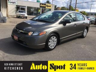 Used 2007 Honda Civic DX-G/5SPD/LOW, LOW KMS! for sale in Kitchener, ON