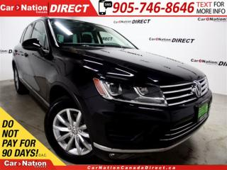 Used 2016 Volkswagen Touareg 3.6L Comfortline| AWD| PANO ROOF| NAVI| for sale in Burlington, ON