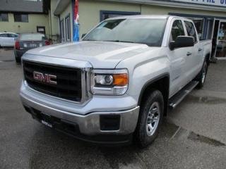 Used 2015 GMC Sierra 1500 WORK READY SLE MODEL 6 PASSENGER 5.3L - V8.. 4X4.. CREW.. SHORTY.. AUX/USB INPUT.. BACK-UP CAMERA.. FACTORY WARRANTY.. for sale in Bradford, ON