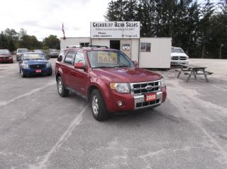 Used 2008 Ford Escape AWD LIMITED for sale in Elmvale, ON