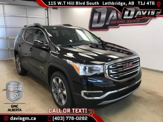 New 2018 GMC Acadia SLT-2-AWD-6 Passenger, Heated Leather, Navigation, Sunroof for sale in Lethbridge, AB