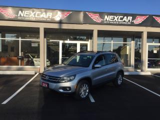 Used 2014 Volkswagen Tiguan 2.0 TSI AWD COMFORTLINE AUT0 LEATHER PANO/ROOF 92K for sale in North York, ON