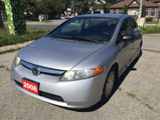 Used 2008 Honda Civic DX-G No Accident for sale in Scarborough, ON