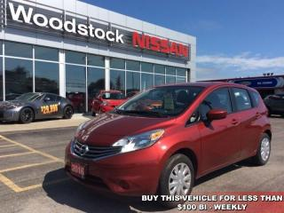 Used 2016 Nissan Versa Note 1.6 S  - Bluetooth - $94.46 B/W for sale in Woodstock, ON