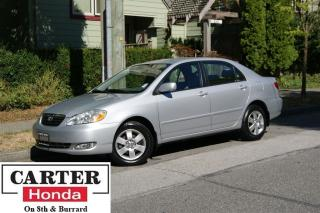 Used 2005 Toyota Corolla LE PLUS + A/C +  LOW LOW KMS! + LOCAL! for sale in Vancouver, BC