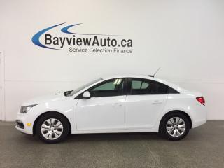 Used 2015 Chevrolet Cruze LT- 6 SPEED! TURBO! A/C! REV CAM! MY LINK! CRUISE! for sale in Belleville, ON