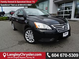 Used 2013 Nissan Sentra 1.8 S *ACCIDENT FREE* TWO OWNER*LOCAL BC CAR* for sale in Surrey, BC