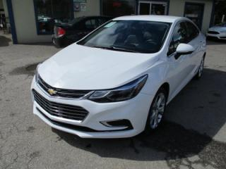 Used 2017 Chevrolet Cruze LOADED PREMIER EDITION 5 PASSENGER 1.4L - TURBO.. LEATHER.. HEATED SEATS.. BACK-UP CAMERA.. BLUETOOTH.. AUX/USB INPUT.. for sale in Bradford, ON