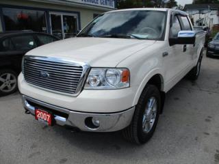 Used 2007 Ford F-150 LOADED LARIAT EDITION 5 PASSENGER 5.4L - V8.. 4X4.. CREW.. SHORTY.. LEATHER.. HEATED SEATS.. POWER SUNROOF.. CD/AUX INPUT.. for sale in Bradford, ON