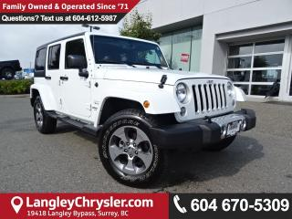 Used 2017 Jeep Wrangler Unlimited Sahara *ACCIDENT FREE*ONE OWNER*LOCAL BC SUV* for sale in Surrey, BC