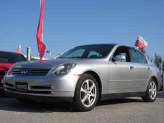 Used 2003 Infiniti G35 Luxury/ ONE OWNER / ACCIDENT FREE for sale in Newmarket, ON