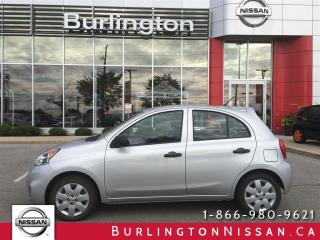 Used 2015 Nissan Micra S, AUTO, ACCIDENT FREE, 13,000 KM'S ! for sale in Burlington, ON