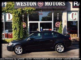 Used 2010 Pontiac G5 *4-DOOR *AUTO *POWER GROUP *1-OWNER *CERT&E-TESTED for sale in York, ON