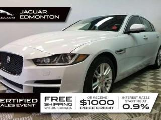Used 2018 Jaguar XE 2.0L Diesel Premium AWD - CPO 6yr/160000kms manufacturer warranty included until October 11, 2023! CPO rates starting at 2.9%! Locally Owned and Serviced | No Accidents | Navigation | Lane Departure Warning | Reverse Traffic/Blind Spot/Closing Vehicle Sen for sale in Edmonton, AB