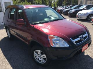 Used 2003 Honda CR-V EX/AWD/AUTO/ALLOYS/LOW LOW KMS/ DRIVES LIKE NEW for sale in Scarborough, ON