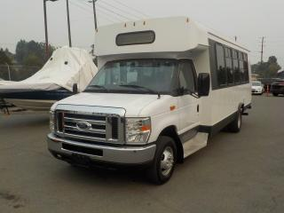 Used 2009 Ford Econoline E-450 Diesel 20 Passenger Bus w/ Wheelchair Lift for sale in Burnaby, BC