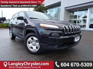 Used 2016 Jeep Cherokee Sport *ACCIDENT FREE*ONE OWNER*LOCAL BC CAR* for sale in Surrey, BC