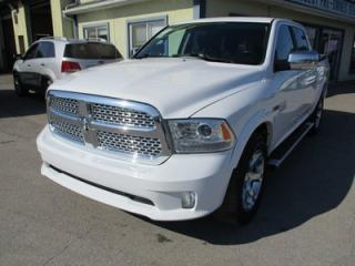 Used 2015 Dodge Ram 1500 LOADED LARAMIE MODEL 5 PASSENGER 3.0L - ECO-DIESEL.. 4X4.. CREW.. SHORTY.. LEATHER.. NAVIGATION.. BACK-UP CAMERA.. HEATED/AC SEATS.. for sale in Bradford, ON