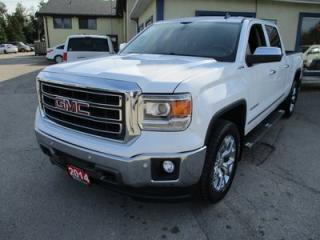 Used 2014 GMC Sierra 1500 LOADED SLT EDITION 5 PASSENGER 5.3L - V8.. 4X4.. CREW.. SHORTY.. LEATHER.. NAVIGATION.. BACK-UP CAMERA.. HEATED/AC SEATS.. for sale in Bradford, ON