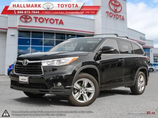 Used 2015 Toyota Highlander LTD AWD for sale in Mono, ON