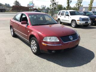 Used 2002 Volkswagen Passat 4dr Sdn GLX V6 4MOTION Auto for sale in Coquitlam, BC