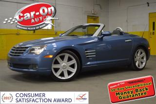 Used 2005 Chrysler Crossfire Limited CONVERTIBLE AUTO LEATHER FULL POWER GROUP for sale in Ottawa, ON