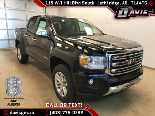 New 2018 GMC Canyon SLT-Android/Apple Carplay, Heated Leather, Rear Camera for sale in Lethbridge, AB