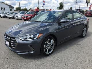 Used 2017 Hyundai ELANTRA LIMITED * LEATHER * REAR CAM * NAV * BLUETOOTH for sale in London, ON