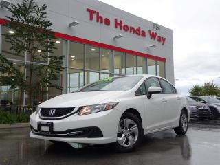 Used 2015 Honda Civic LX Sedan CVT / Warranty until for sale in Abbotsford, BC