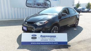 Used 2015 Toyota Corolla S Navi, Leather, Backup Camera for sale in Stratford, ON
