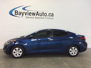 Used 2016 Hyundai Elantra L- 1.8L! 6 SPEED! ECO MODE! BUDGET BUDDY! for sale in Belleville, ON