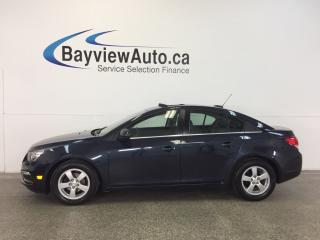 Used 2015 Chevrolet Cruze LT- TURBO! REM START! ROOF! HTD LTHR! REV CAM! for sale in Belleville, ON
