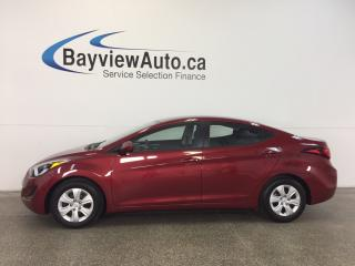 Used 2016 Hyundai Elantra L- 6 SPEED! 1.8L! ECO MODE! A/C! BUDGET BUDDY! for sale in Belleville, ON