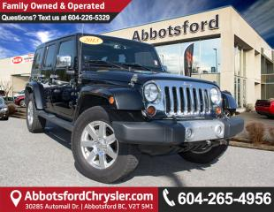 Used 2013 Jeep Wrangler Unlimited Sahara ACCIDENT FREE! for sale in Abbotsford, BC