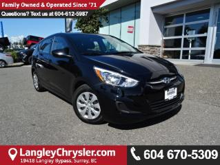 Used 2016 Hyundai Accent SE *ACCIDENT FREE*ONE OWNER*LOCAL BC CAR* for sale in Surrey, BC