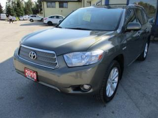 Used 2010 Toyota Highlander HYBRID LOADED LIMITED EDITION 7 PASSENGER 3.3L - HYBRID.. BENCH & 3RD ROW.. LEATHER.. NAVIGATION.. BACK-UP CAMERA.. JBL AUDIO.. for sale in Bradford, ON